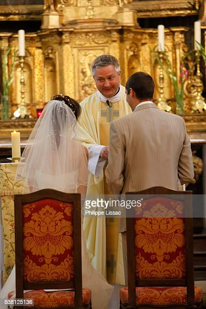 Catholic wedding in Saint Michel's church, Salon-de-Provence