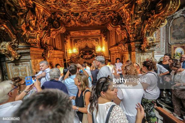 ARMENO NAPLES CAMPANIA ITALY Catholic worshipers in Naples attend a special service for Saint Patrizia one of the city's patron saints Napolitans...