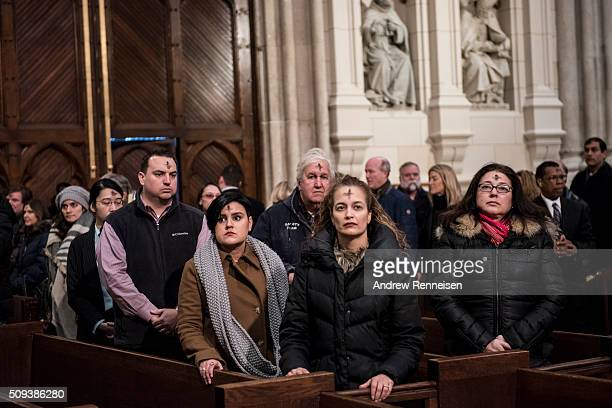 Catholics attend Ash Wednesday mass at St Patrick's Cathedral on February 10 2016 in New York City The day marks the start of the lent for Catholics...