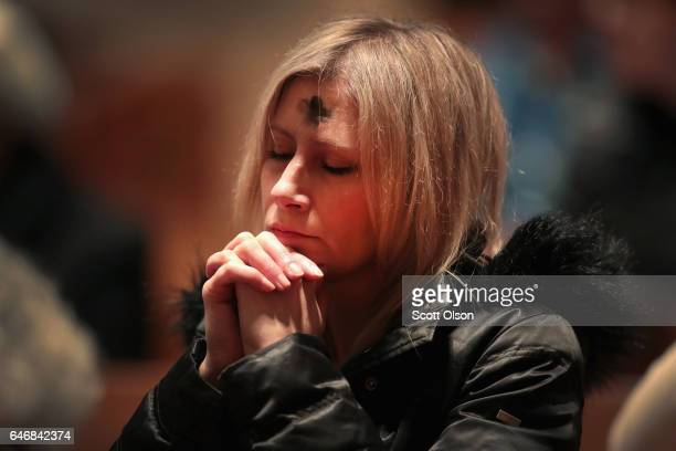Catholics celebrate Ash Wednesday during a mass at Holy Name Cathedral on March 1 2017 in Chicago Illinois Ash Wednesday which occurs 46 days before...