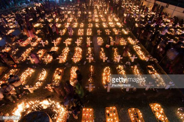 Catholics observe November 2 as the All Souls' Day a day of prayers for the dead The photos of the observation were taken at Holy Rosary Church in...