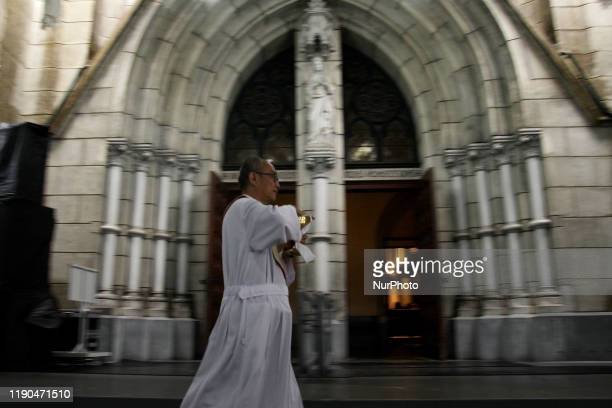 Catholics perform Christmas mass service at the Jakarta Cathedral church, on Wednesday, December 25, 2019.
