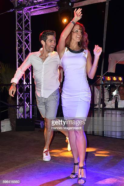 Cathrin Hisnauer and Christian Polanc during the Serfan fashion show night on August 27 2016 in Starnberg Germany