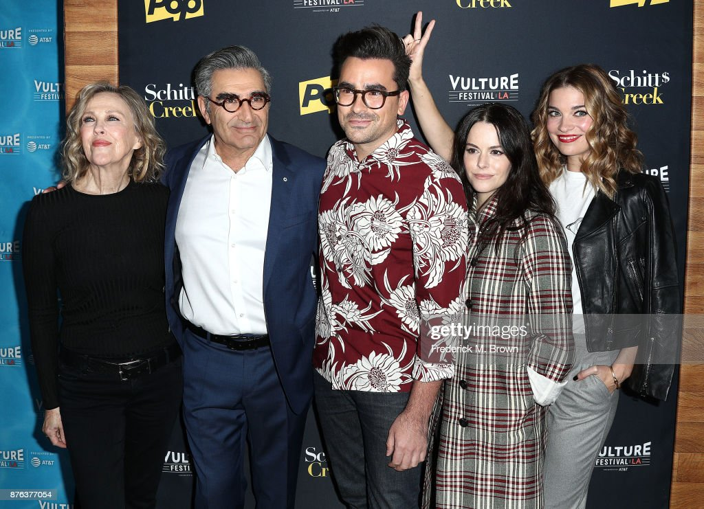 Cathrine O'Hara, Eugene Levy,Daniel Levy, and Annie Murphy attend
