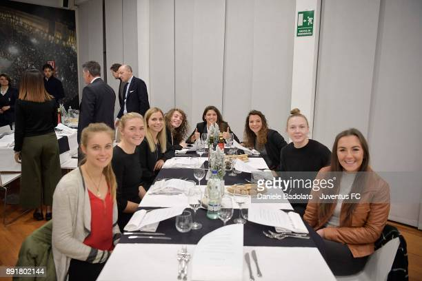 Cathryn Rood Ingvild Isaksen Tuija Hyyrynen Benedetta Glionna Sofia Cantore Arianna Caruso Sanni Maija Franssi and Katie Zelem during the Juventus...