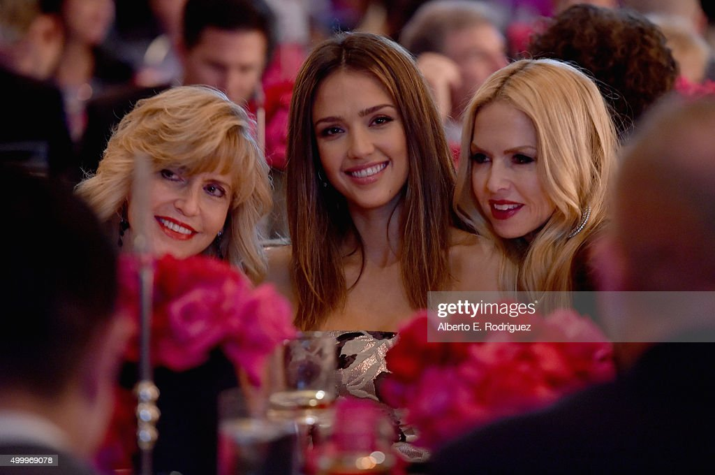 Cathy Alba, Grace Kelly Award recipient Jessica Alba and fashion designer Rachel Zoe attend the March Of Dimes Celebration Of Babies Luncheon honoring Jessica Alba at the Beverly Wilshire Four Seasons Hotel on December 4, 2015 in Beverly Hills, California.