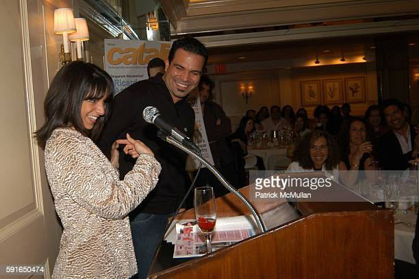 Cathy Areu and Ricardo Antonio Chavira attend Catalina Magazine and The Heart Truth Campaign Third Annual Essence of Latinas Event in New York at The...