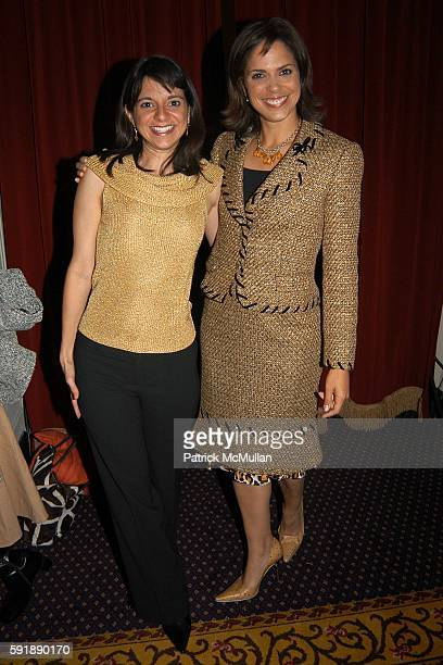 Cathy Areu and Soledad O'Brien attend Groundbreaking Latina in Leadership Awards at Hudson Theatre on October 11 2005 in New York City