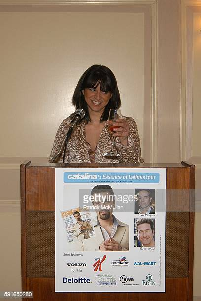 Cathy Areu attends Catalina Magazine and The Heart Truth Campaign Third Annual Essence of Latinas Event in New York at The Carlyle Hotel on May 16...