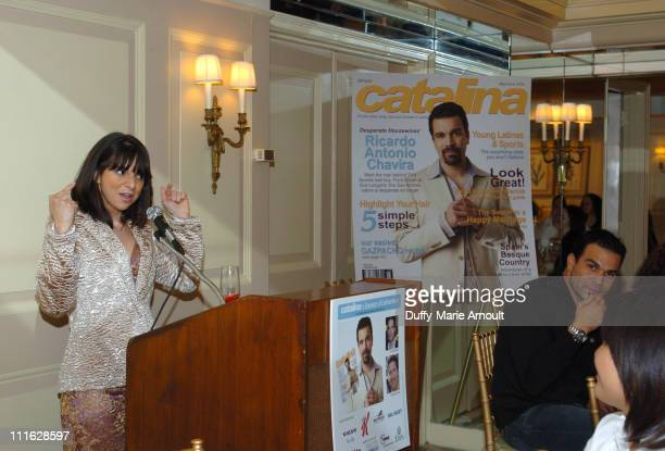 Cathy Areu Catalina Magazine publisher during Catalina Magazine Afternoon Tea with Ricardo Antonio Chavira at The Carlyle Hotel in New York City New...