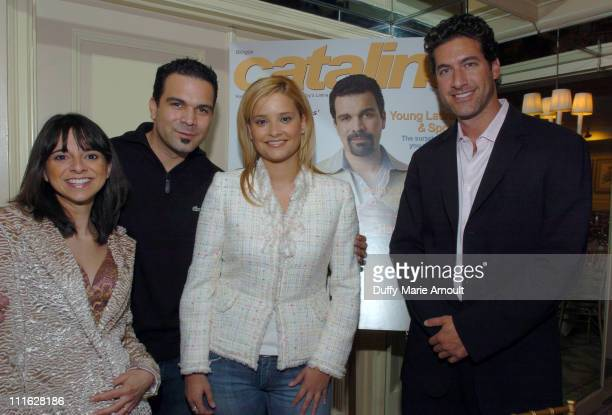 Cathy Areu Catalina Magazine publisher Ricardo Antonio Chavira of Desperate Housewives Ana Ledo Univison contributing reporter and Eduardo Xol of...