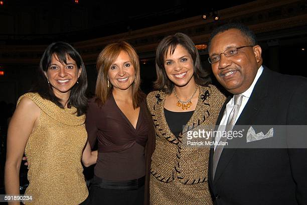 Cathy Areu Leslie Sanchez Soledad O'Brien and Leonard James attend Groundbreaking Latina in Leadership Awards at Hudson Theatre on October 11 2005 in...