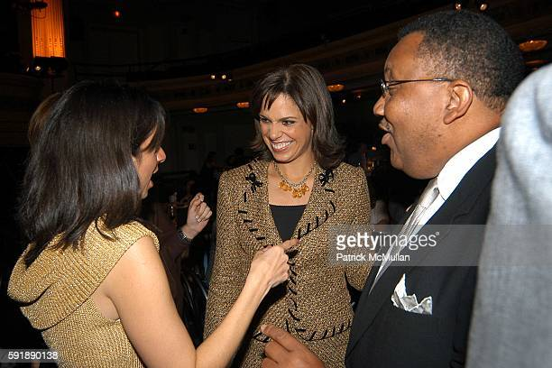 Cathy Areu Soledad O'Brien and Leonard James attend Groundbreaking Latina in Leadership Awards at Hudson Theatre on October 11 2005 in New York City