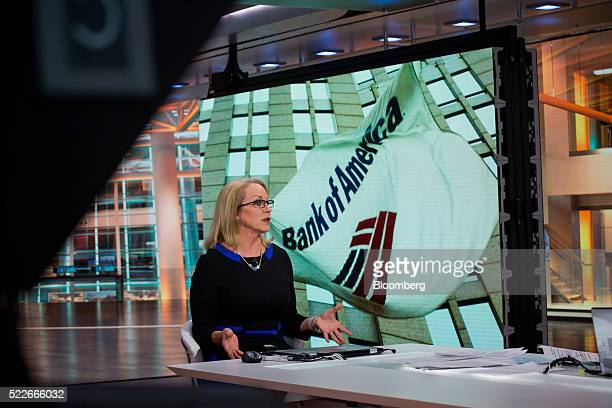 Cathy Bessant chief operations and technology officer for Bank of America Corp speaks during a Bloomberg Television interview in New York US on...
