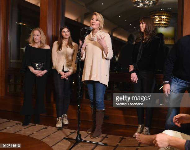 Cathy Chermol Schrijver Michaela Kennedy Cuomo Governor Andrew M Cuomo Sandra Lee and Mariah Kennedy Cuomo speaks during the RX Early Detection A...