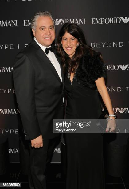 Cathy Cianci and Franco Cianci attend Global NonProfit Beyond Type 1 and Emporio Armani's 'Notte al Casino' at Armani 5th Avenue in NYC Benefitting...
