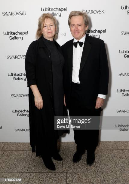 Cathy de Monchaux and John Pawson attends a glamorous gala dinner at Whitechapel Gallery as Rachel Whiteread is celebrated as the recipient of the...