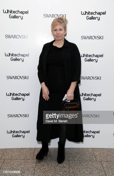 Cathy de Monchaux attends a glamorous gala dinner as Francis Alys is celebrated as Whitechapel Gallery Art Icon with Swarovski on January 21 2020 in...