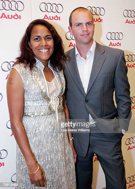 Cathy Freeman and James Murch attends the Audi TT and Audi Art Prize Official Launch event opening the TT Movement exhibition which celebrates the...