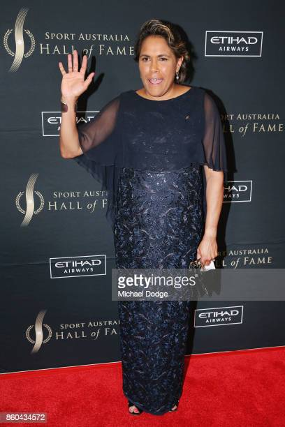 Cathy Freeman poses at the Sport Australia Hall of Fame Annual Induction and Awards Gala Dinner at Crown Palladium on October 12 2017 in Melbourne...