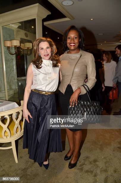 Cathy Graham and Alexis Clark attend the launch of Second Bloom Cathy Graham's Art of the Table hosted by Joanna Coles and Clinton Smith at Bergdorf...