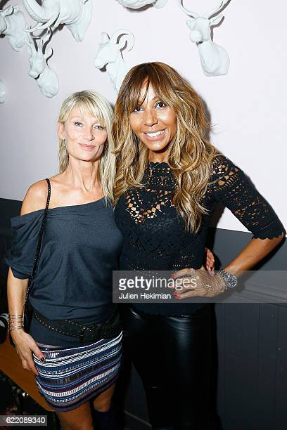 Cathy Guetta and Isabelle Camus attend Fete le Mur Celebration 20th Anniversary At Chalet des Iles In Paris on November 9 2016 in Paris France