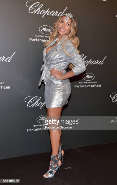 """Cathy Guetta attends the Chopard """"SPACE Party"""" hosted by Chopard's copresident Caroline Scheufele and Rihanna at Port Canto on May 19 in Cannes France"""