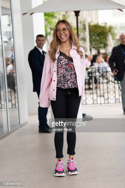 Cathy Guetta is seen during the 72nd annual Cannes Film Festival at on May 24 2019 in Cannes France