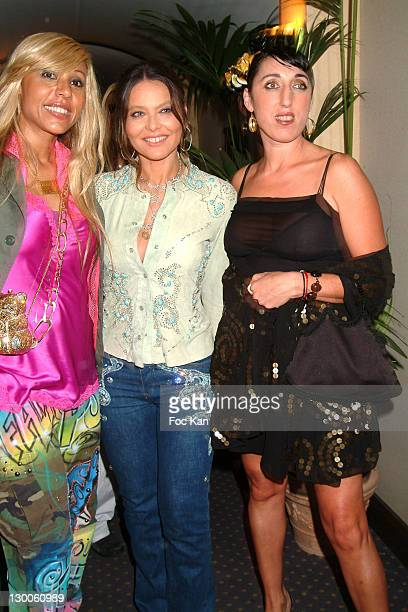 Cathy Guetta Ornella Mutti and Rossy De Palma during 2004 Cannes Film Festival The Ottoniente's People Film Party at Milliardaire Club at the Carlton...