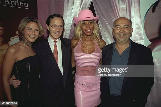 Cathy Guetta with Alexandra Bronkers Bruno Cottard and Gerard Jugnot