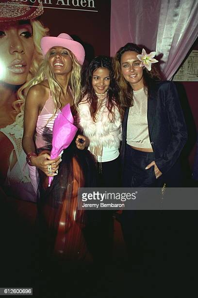 Cathy Guetta with S{verine Ferrer and Lydie Denier