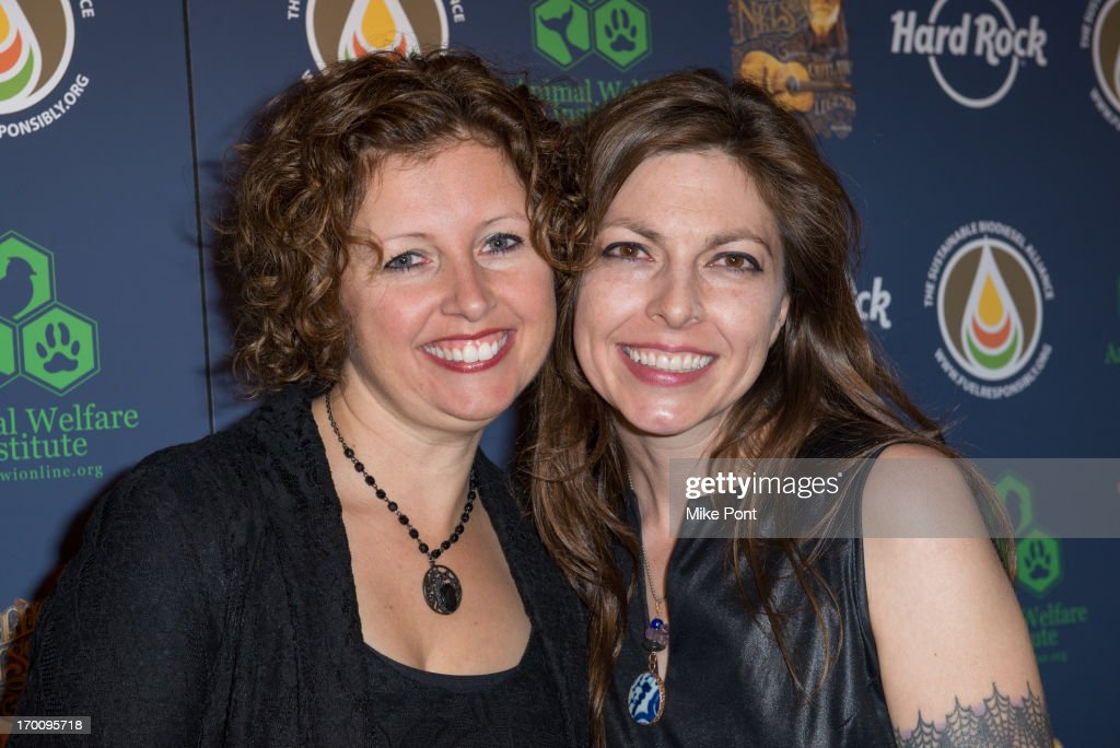 Cathy Guthrie and Amy Nelson attend Hard Rock International's Wille Nelson Artist Spotlight Benefit Concert at Hard Rock Cafe, Times Square on June 6, 2013 in New York City.