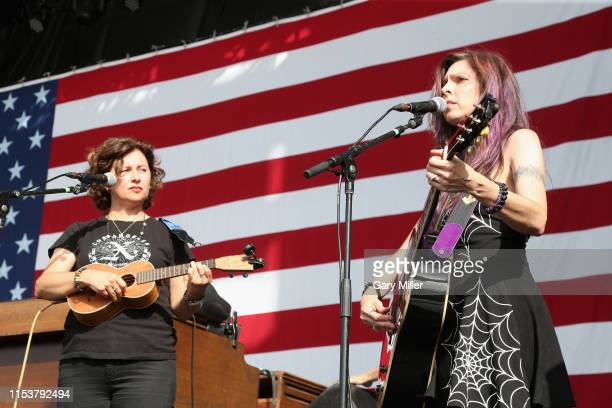Cathy Guthrie and Amy Nelson of Folk Uke perform in concert during Willie Nelson's 4th of July Picnic at Austin360 Amphitheater on July 4 2019 in...