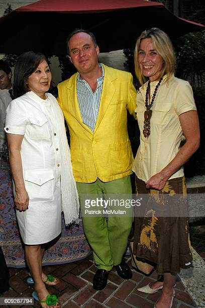 Cathy Hardwick Christopher Mason and Pascal Richard attend FIT COUTURE COUNCIL Cocktail Party at Charlotte Moss Residence on July 25 2007 in New York...