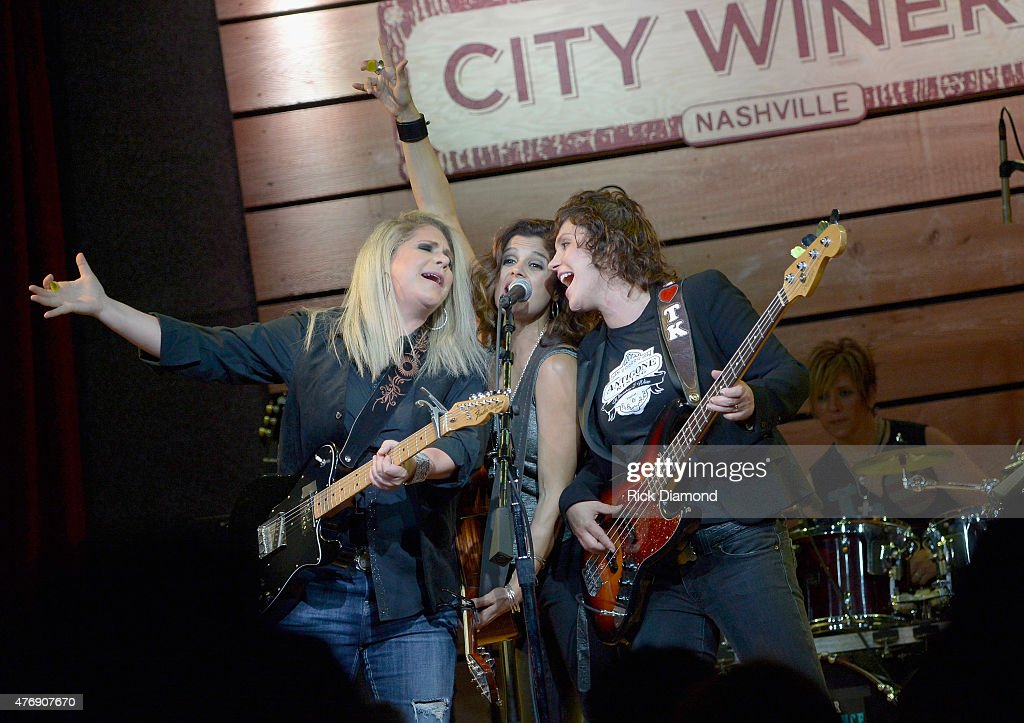 Cathy Henderson, Nini Camps, Kisten Ellis-Henderson and Deana Tauriello of Antigone Rising perform onstage at The Concert For Love And Acceptance at City Winery Nashville on June 12, 2015 in Nashville, Tennessee.