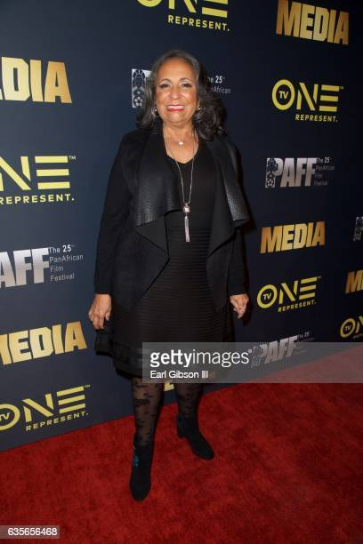 Cathy Hughes attends the Pan African Film FestivalScreening of Media at Baldwin Hills Crenshaw Plaza on February 15 2017 in Los Angeles California