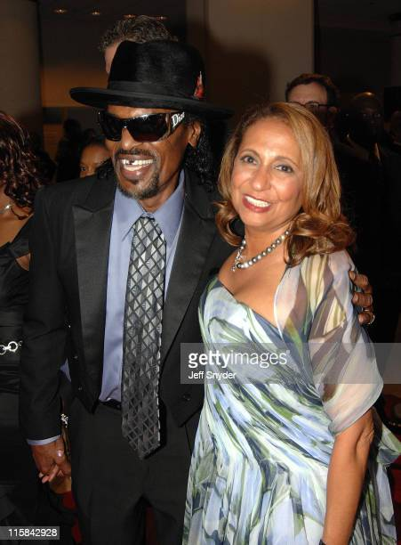 Cathy Hughes Chairman of Radio One and Chuck Brown at the Radio One 25th Anniversary Celebration