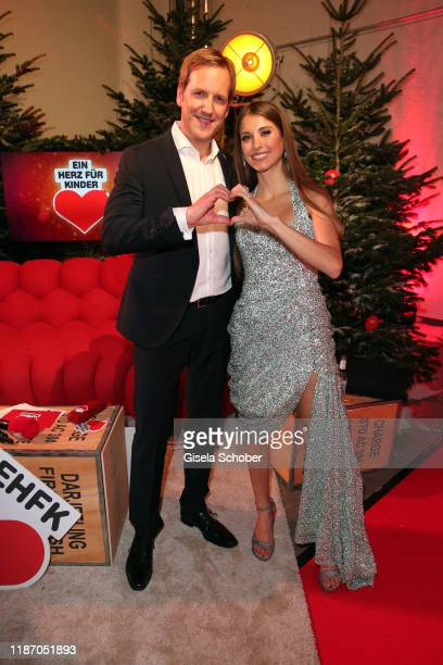 Cathy Hummels and Jan Hahn during the Ein Herz Fuer Kinder Gala at Studio Berlin Adlershof on December 7, 2019 in Berlin, Germany.