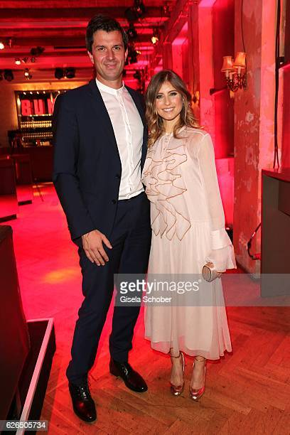 Cathy Hummels and Jonas Grashey during the New Faces Award Style 2016 at 'The Grand' on November 16 2016 in Berlin Germany