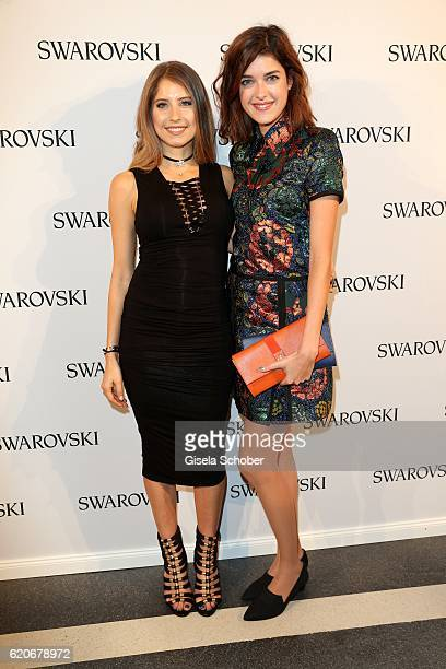 Cathy Hummels and Marie Nasemann during the Swarovski World Jewelry Facets exhibition at Villa Wagner on November 2 2016 in Munich Germany