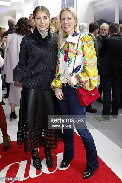 Cathy Hummels and Tamara Graefin von Nayhauss attend the 'Gala' fashion brunch during the MercedesBenz Fashion Week Berlin A/W 2017 at Ellington...