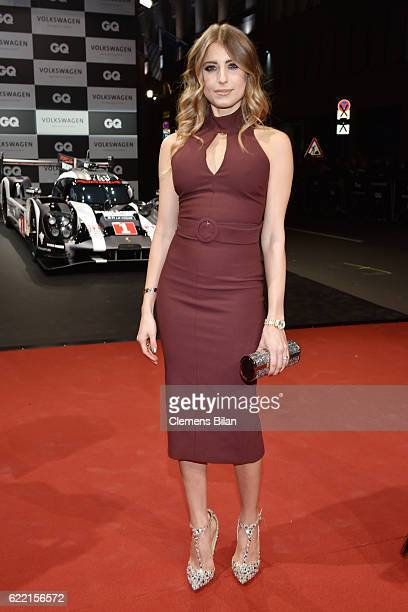 Cathy Hummels arrives at the GQ Men of the year Award 2016 at Komische Oper on November 10 2016 in Berlin Germany