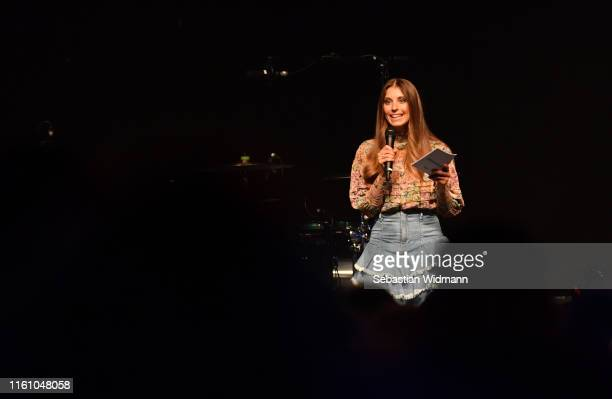Cathy Hummels attends the Amazon #PrimeDayLive event at Muffathalle on July 09, 2019 in Munich, Germany.