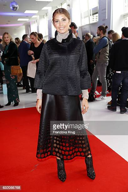 Cathy Hummels attends the 'Gala' fashion brunch during the Mercedes-Benz Fashion Week Berlin A/W 2017 at Ellington Hotel on January 19, 2017 in...