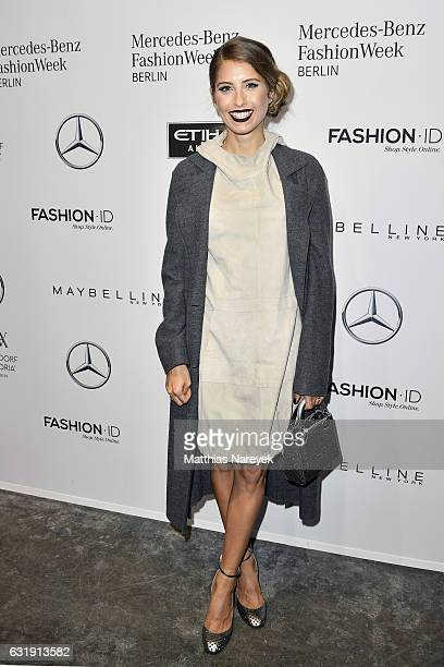 Cathy Hummels attends the Riani show during the Mercedes-Benz Fashion Week Berlin A/W 2017 at Kaufhaus Jandorf on January 17, 2017 in Berlin, Germany.