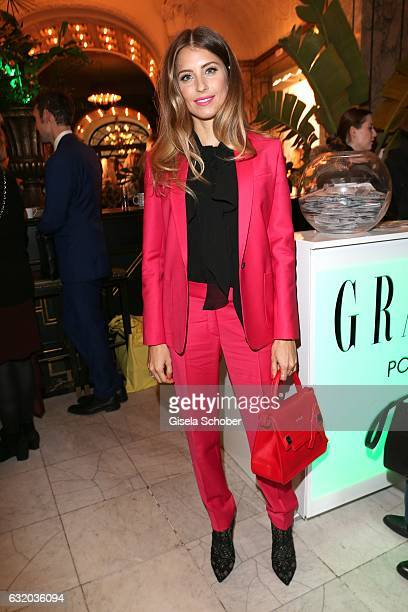 Cathy Hummels during the GRAZIA Pop Up Breakfast during the MercedesBenz Fashion Week Berlin A/W 2017 at Kaffeehaus Grosz on January 18 2017 in...