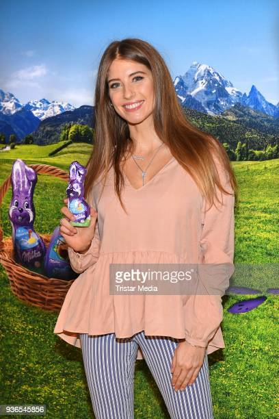 Cathy Hummels during the Milka Osterbrunch at Studio Lassen on March 22, 2018 in Hamburg, Germany.