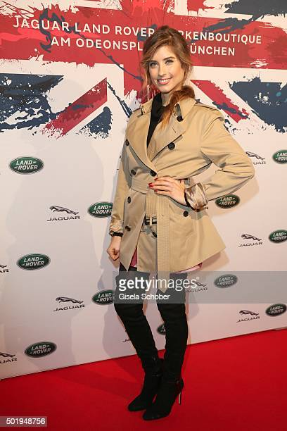 Cathy Hummels during the opening of the Jaguar Land Rover Boutique on December 18 2015 in Munich Germany