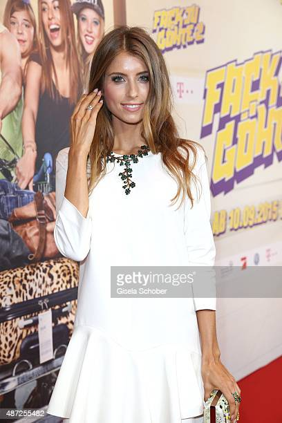 Cathy Hummels during the world premiere of 'Fack ju Goehte 2' at Mathaeser Kino on September 7 2015 in Munich Germany