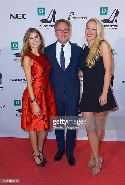 Cathy Hummels Heinrich Deichmann and Sabine Lisicki attend the Deichmann Shoe Step Of The Year Award at Hotel Atlantic Kempinski on November 2 2015...